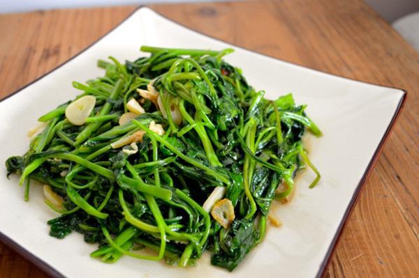 Lưu ý khi ăn rau muống